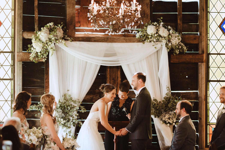 Rustic Barn Wedding Ceremony at Bishop Farm