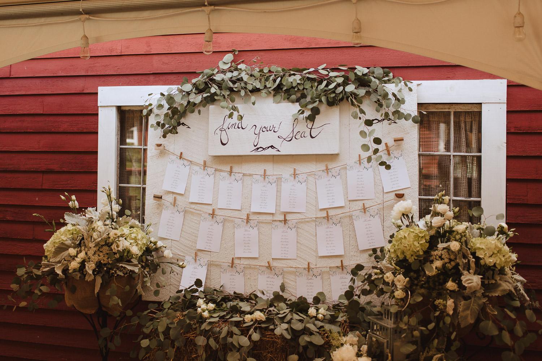 Rustic Romantic Barn Wedding Reception in New England