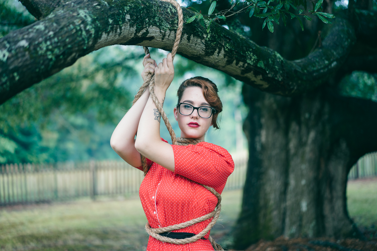 Camera: Sony A7  Lens:Sony Sonnar T* FE 55mm f/1.8 ZA  Model: Jessica Morales  Added Element: Rope