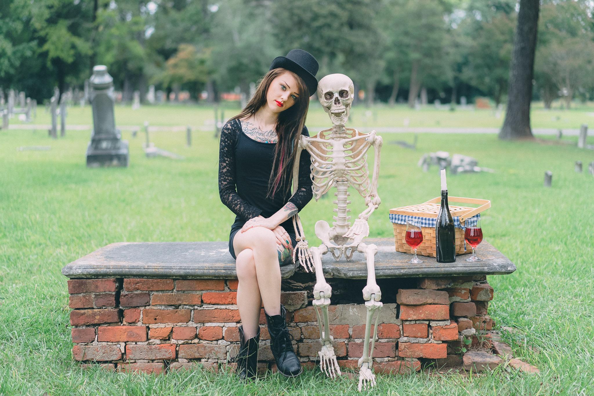 Model: Mykayla Mckenzie  Model: Bob The Skeleton  Cameras used: Sony A7  Lens:Sonnar T* FE 55mm F1.8 Z
