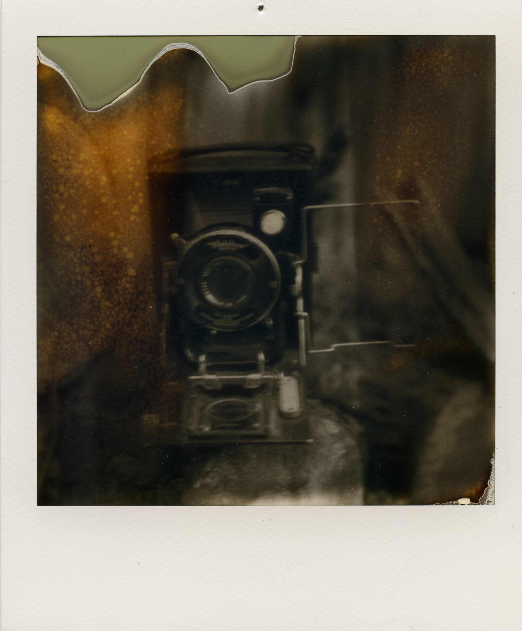Camera: SX-70  Impossible Film Project BW film For SX-70 (Expired film, bought of eBay)