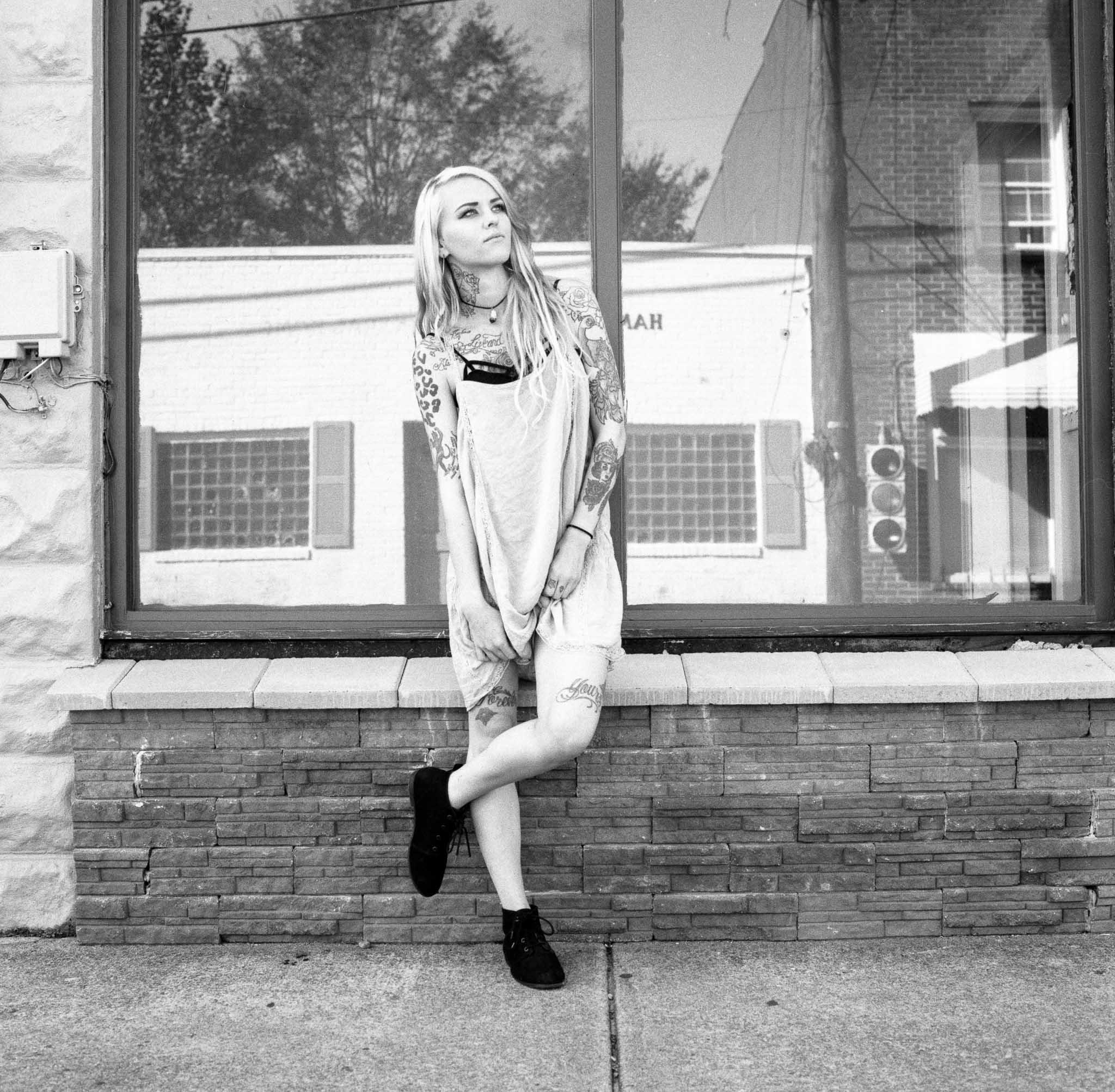 Model: Mykayla Mckenzie  Camera: Hasselblad 501CM  Film: HP5+ @1600
