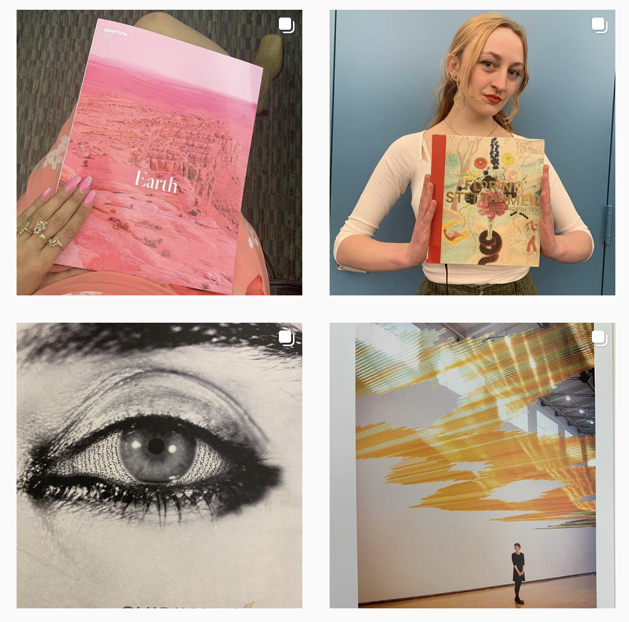 Images from the @SVALibrary Instagram Social Media.