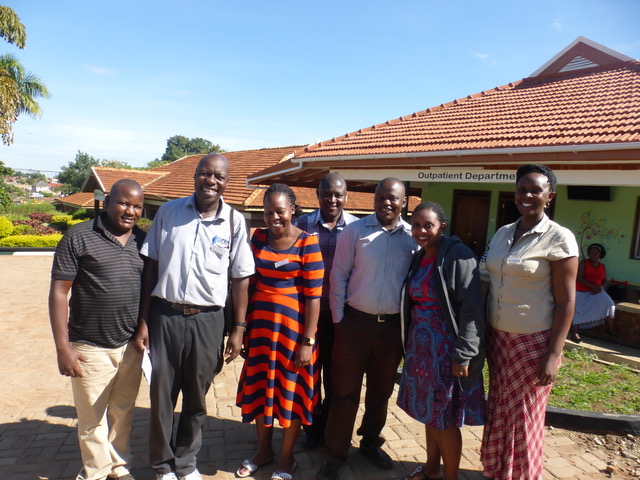 The farewell committee at CURE . . . tears and hugs, then off to Entebbe.