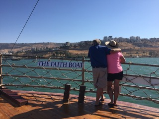 Looking in to Tiberias and marveling at all that happened on the Sea of Galilee.