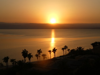 "The sun sinks in to the Dead Sea. Sunrises, sunsets . . . all remind us it can be ""well with my soul"" since He is running the universe. All praise is His!"