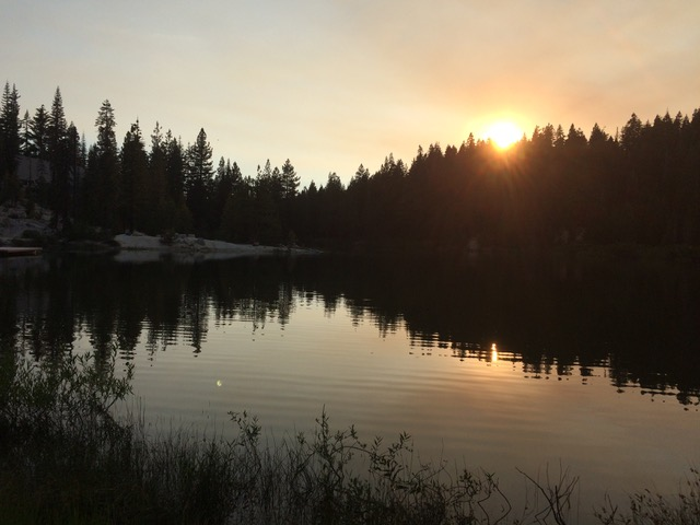 Sunset over Pilot Lake