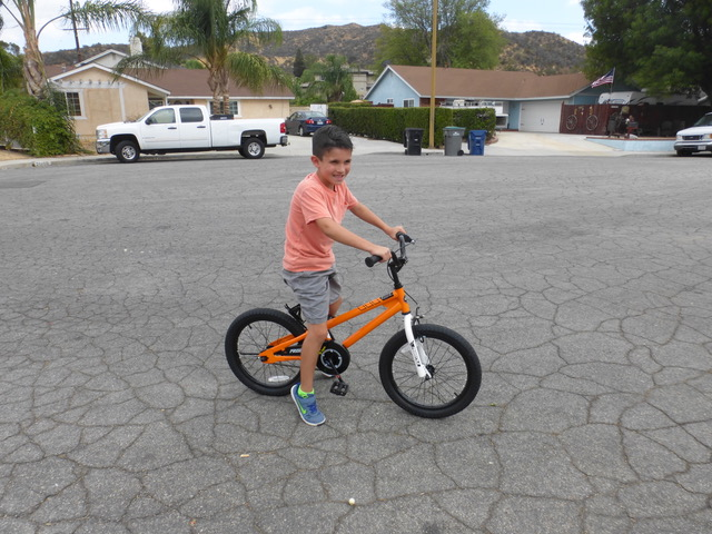 "Brandon was very happy with his new ""ride."""
