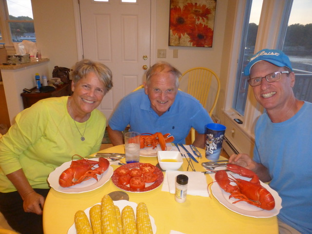 """Nothing quite like fresh """"lobsta"""" right off the lobster boat . . . and fresh corn right out of Hannaford's bins."""
