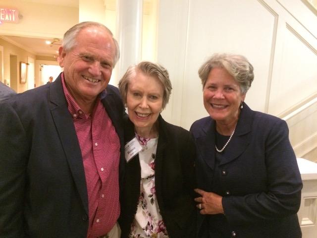 With Bonnie Robinson at Haddon's memorial service.