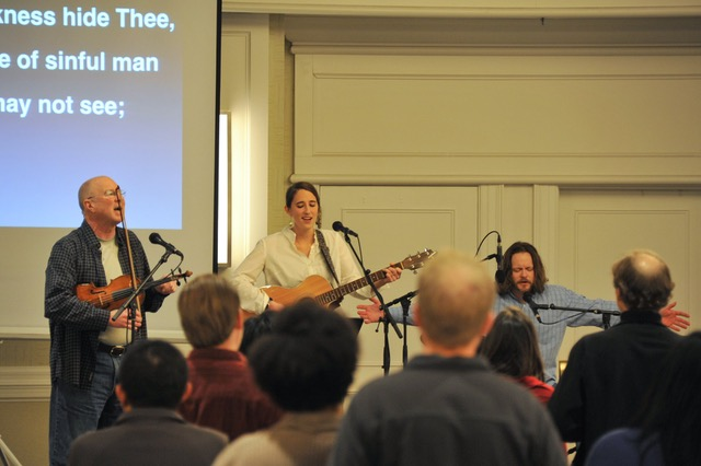 The worship team, led by Dave Bullock, knocked it out of the park.