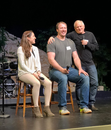 Paul interviewed Nate and Lexi Solder, and elicited quite a bit of laughter from the audience as he stood next to the sitting Nate and they were at eye level. :)