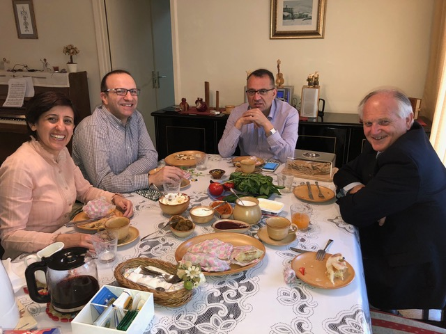 . . .  and were rewarded with a beautiful breakfast made by his lovely wife, Garineh.