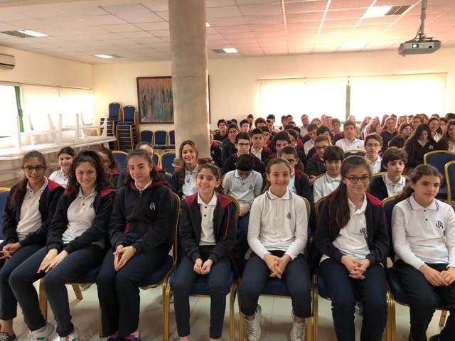 Chapel for the 7th-11th graders at the Armenian Evangelical Central High School