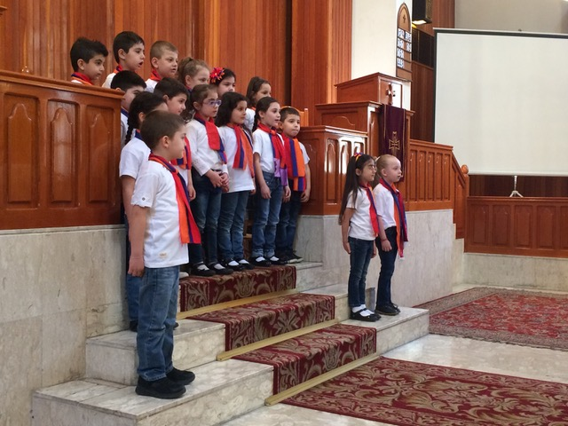 These precious little ones sang and recited scripture at the service.