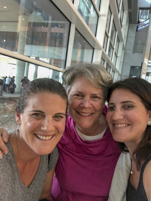Happy reunion with Kari and Lisa in the Indianapolis airport.