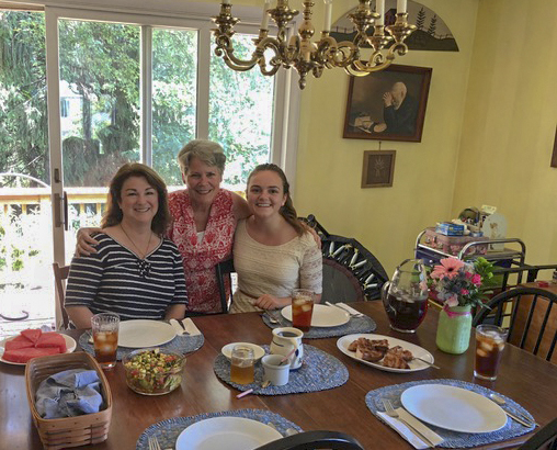 Keri and Kelsey Telander (long time family campers and former CBS program staff) honored us with a visit on the way to the airport after going to a wedding in Maine.