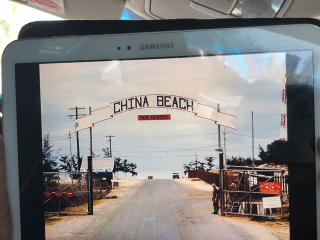 A photo of China Beach about the time my Dad would've walked its sand.