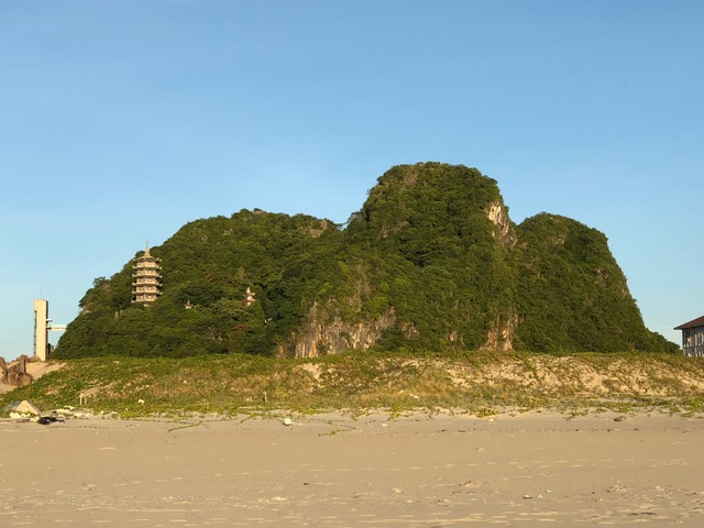 Marble Mountain has many caves and temples. The largest cave housed Viet Cong during the war.