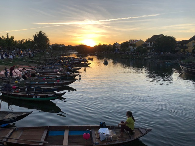 Sunset in HoiAn . . . captivating.