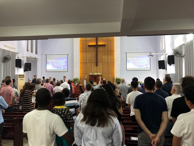 The congregation during worship