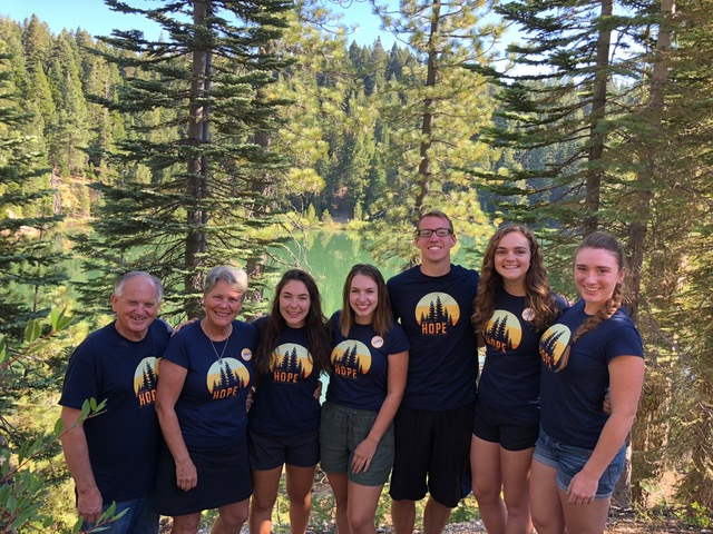 The former CBS program staff who helped staff Calvary Chapel of Chico's family camp at Pilot Lake.