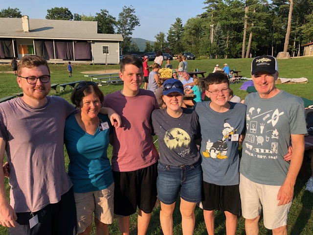 The Yardley family came up from North Carolina to continue their commitment to the tradition of family camp.
