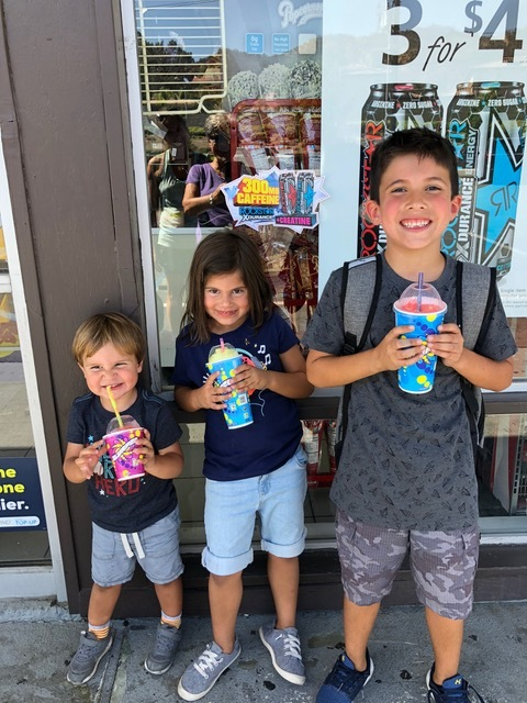 """A brief visit with the """"Littles"""" in Santa Clarita on our way to Visalia. """"Slurpee Friday"""" is a very """"cool"""" tradition."""