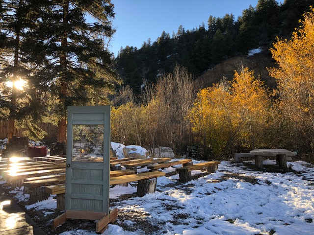 """Jeff Armstrong and Whitnee Sherman's """"Narnia"""" wedding in Idaho Springs, Colorado, was spectacularly beautiful."""