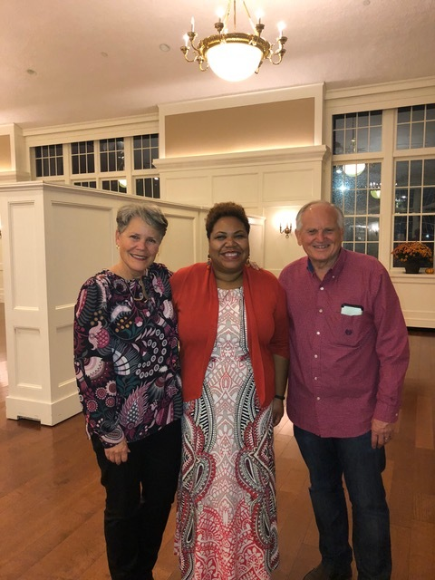 We stand with Dean Michelle Williams who hosted the evening for couples.