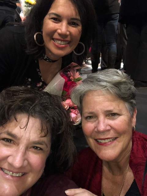 "Hannah's mom, Christina Chew Swanson, and Sally Shaull are two of my favorite ""flowers"" in my garden of ""chosen family friends."""