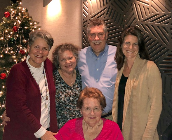 An early Christmas dinner celebration launched our evening down memory lane. I love this photo of us!