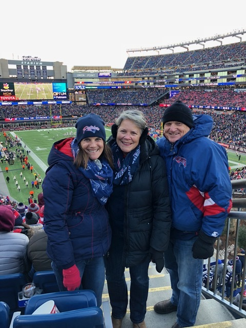 Yes, it was cold, but oh, so worth it! Go Pats!!