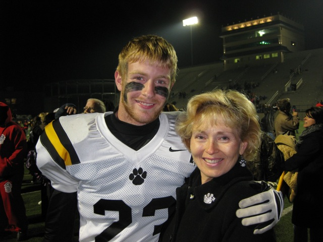 James David with his mom, Tammy