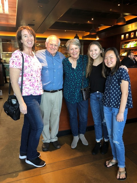 Karen Bushnell and her daughters Frances and Abigail were delightful lunch companions.