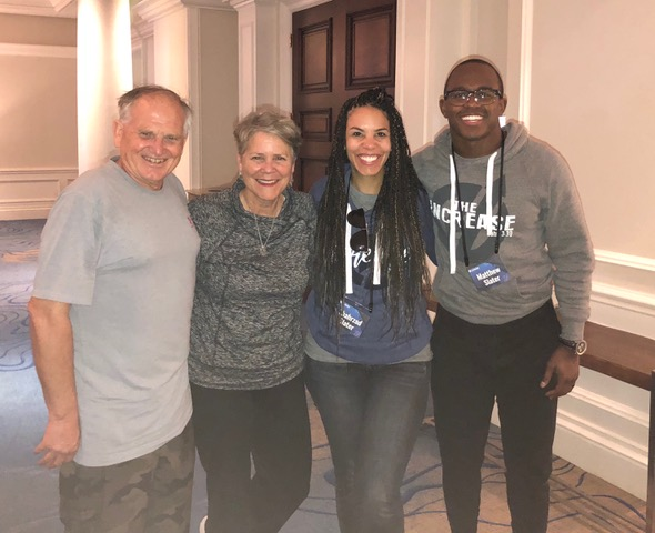 Matthew and Shahrzad Slater are the real spiritual ring-leaders for the Patriots. Matthew provides godly leadership for the team, and Shahrzad cares for every one of the wives and girlfriends so personally. God has used them in such a big way.
