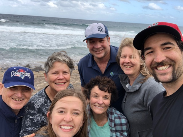 Sea glass hunting with the Hazlebeck clan: Dave and Debbie (the parents), David and Emily (the newlyweds), and our dear friend Wendy Turney, who just happened to be on the island that week.