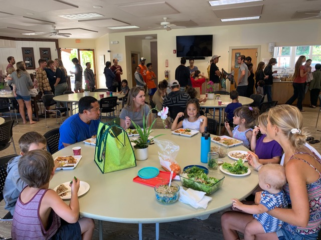 Lunchtime at the conference . . . bring those 50+ kids from childcare to eat with their parents!