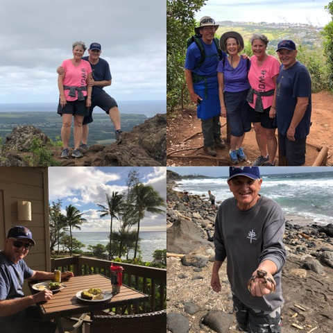 """Each year we've enjoyed getting to know Bill and Susan Gates; Bill serves on the IVCF Board.   We especially enjoyed hiking """"Sleeping Giant"""" with them this year."""