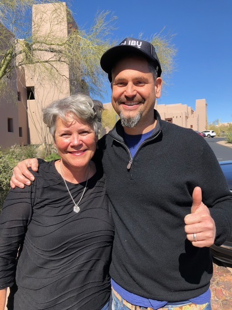"""I just happen to """"run"""" in to Brenton Brown and got to personally thank him for leading us to Jesus during worship, vs. leading us to himself. He's written some of our favorite contemporary songs, including """"Everlasting God"""" and """"Lion and the Lamb,"""" and did a phenomenal job at the conference."""