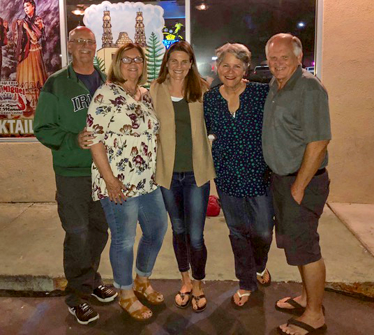 Dinner with Doug and Kelly Hart and Lisa . . . spending time with friends is one of the best parts of what we do!
