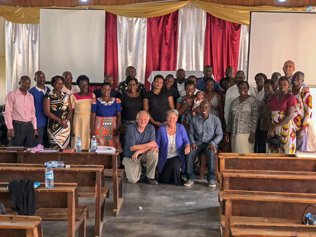 Many of the pastors and their wives who came Monday to the all-day seminar.