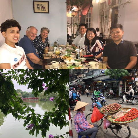 "Friday was ""adjustment"" day and we explored Hanoi by foot, taking in the smells, sights, and sounds."