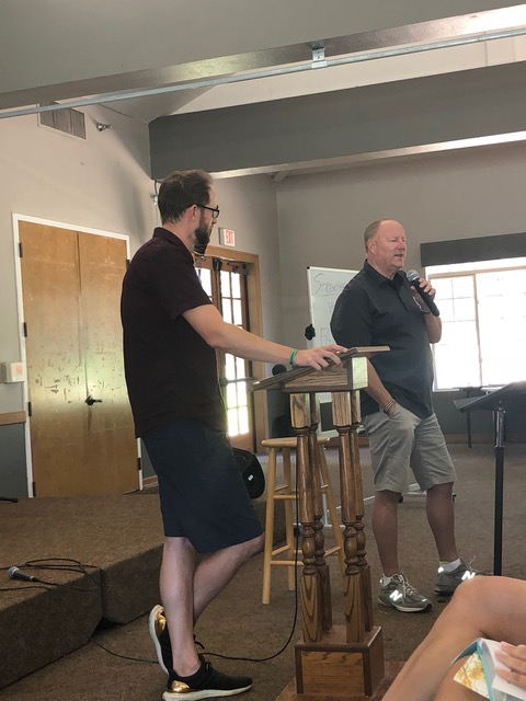 Ray Johnston and his son Scott spoke two mornings together . . . so hope-giving to see the next generation living the gospel.