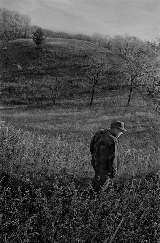 Farmer Walking Over Fallow Ground, Boone County, KY