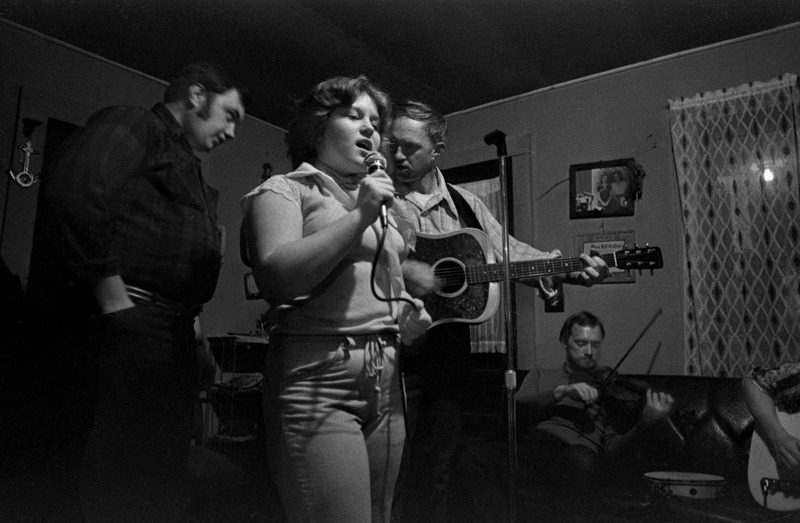 Rhonda Chandler Singing with Her Uncle, Joe Chandler (left) and Her Father, Arthur Chandler, Sodom, NC
