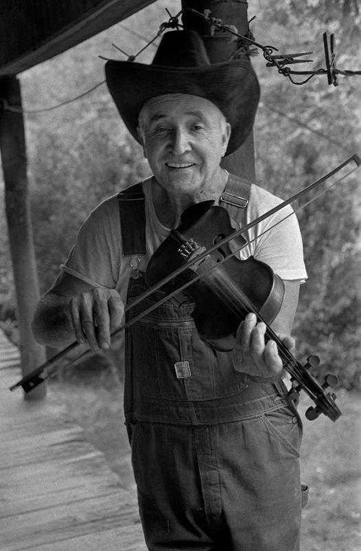 Doug Wallin Fiddling at Home, Crain Branch, Sodom, NC
