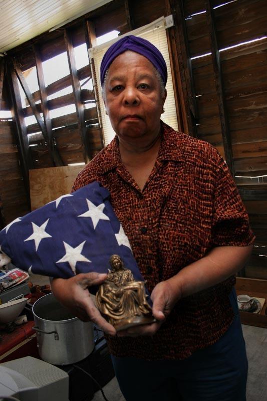Mrs. Walker in Her Gutted House, Hurricane Katrina, New Orleans, Louisiana  - for Duke University