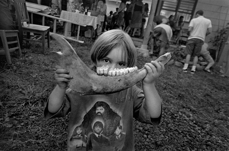 Boy with Jawbone, Walnut, 2007.