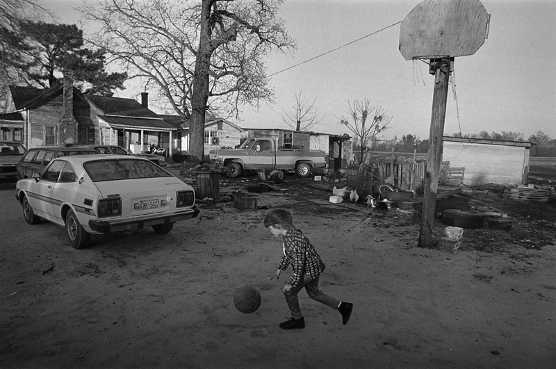 Sylvester Walker's Granddaughter Playing Basketball in the Front Yard, Spivey's Corner, NC